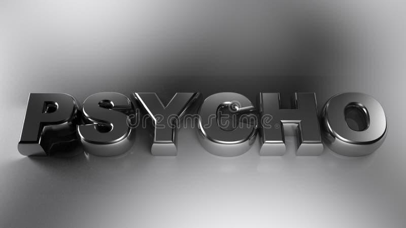 Metallisk krom för PSYKOPAT - tolkning 3D royaltyfri illustrationer
