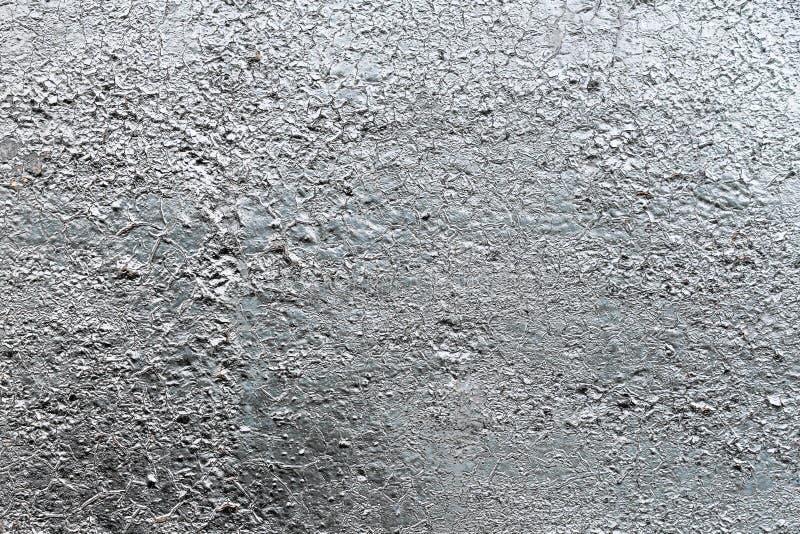Metallisk målarfärg för silver på ståltexturbakgrund fotografering för bildbyråer