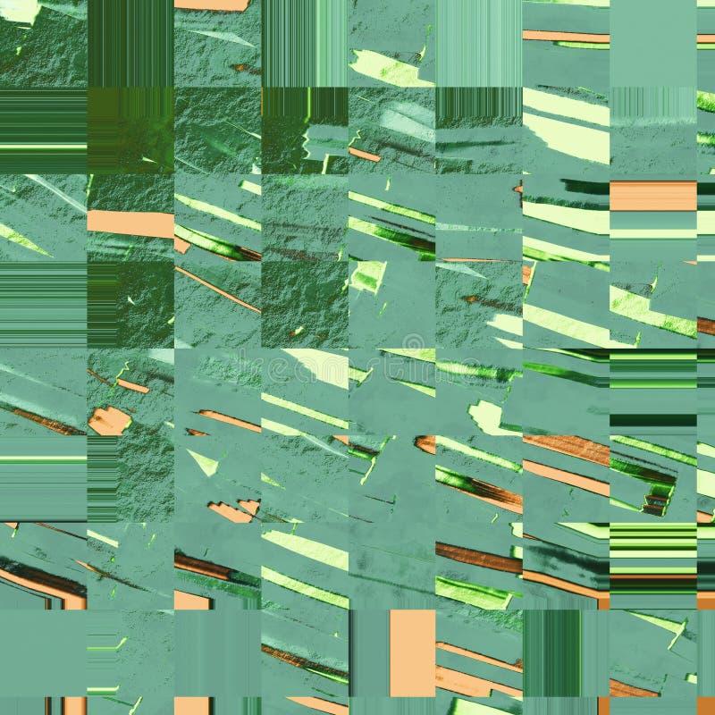 Metallisk målarfärgtextur Bakgrund för tappningmålarfärgslaglängder Texturerad målarfärgyttersida Slaglängder för målarfärgborste royaltyfri illustrationer