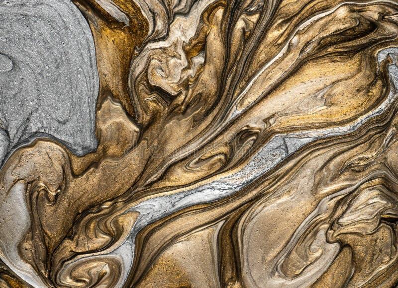 Metallisk m?larf?rgtextur med konstn?rligt och id?rikt handlag royaltyfri illustrationer