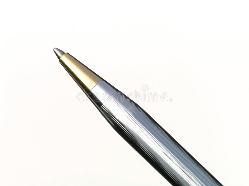 Download Metallisk penna arkivfoto. Bild av metall, handel, tecken - 235060