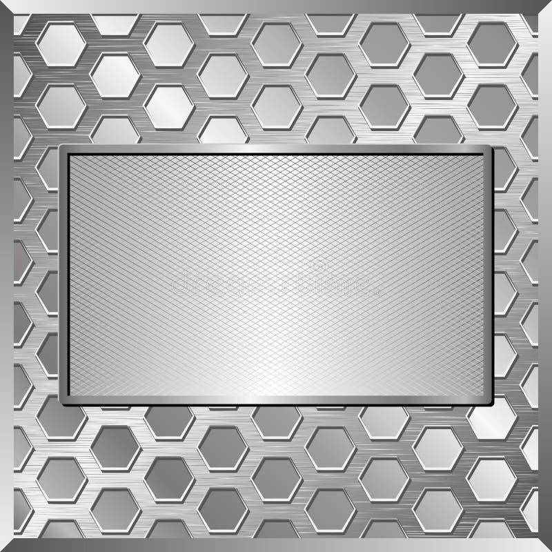 metallisk platta royaltyfri illustrationer