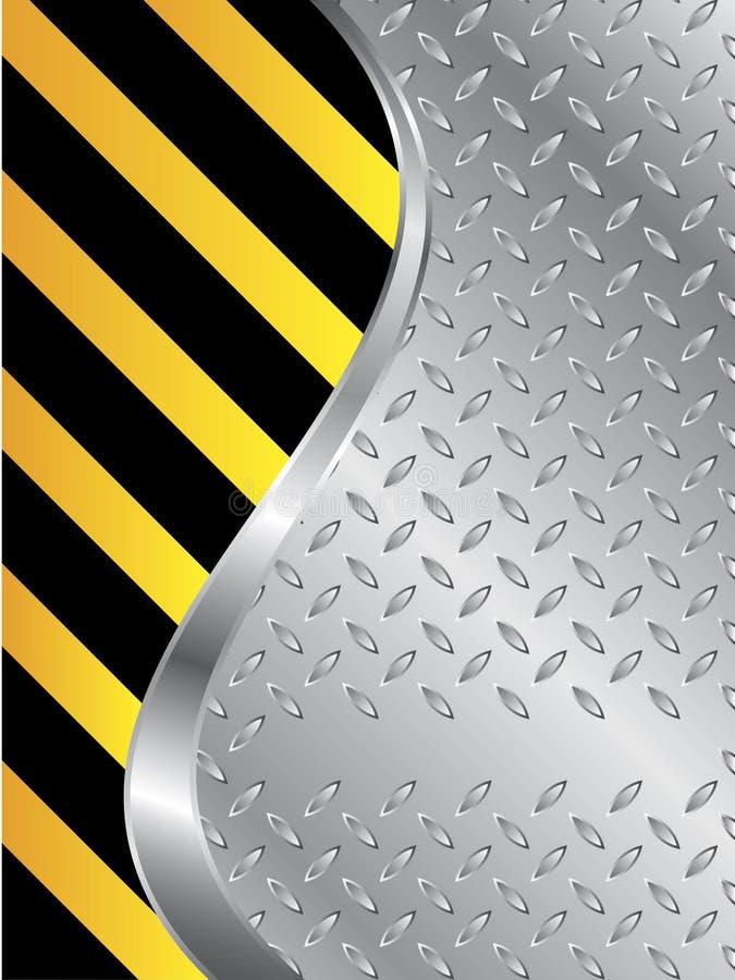 metallisk platta för bakgrund royaltyfri illustrationer
