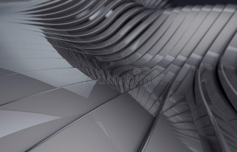 Metallisk skinande bakgrund för abstrakt mörk krom stock illustrationer