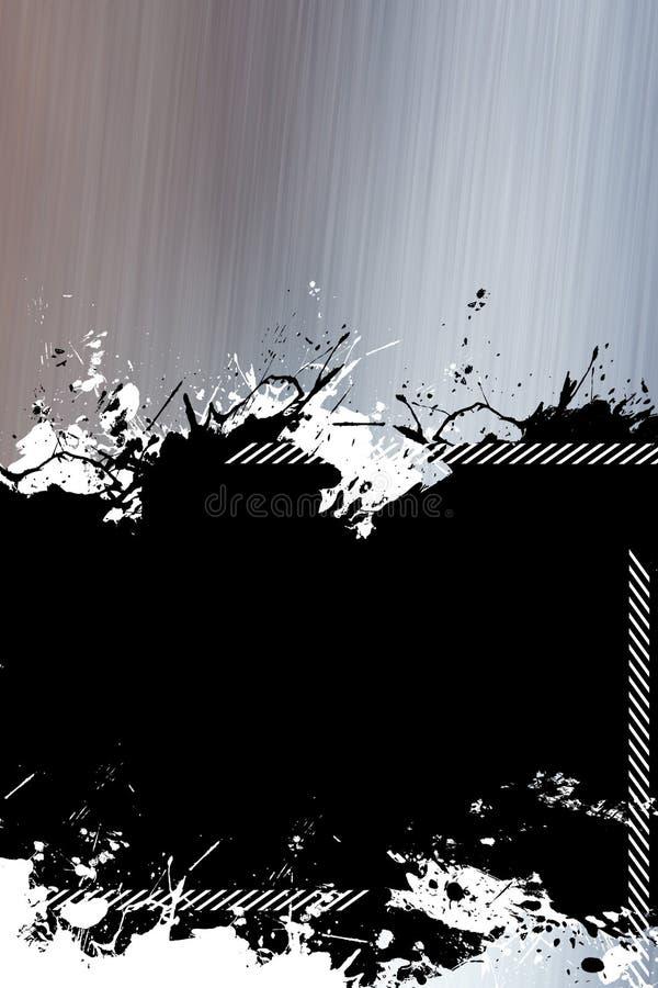 metallisk splatter för bakgrund stock illustrationer