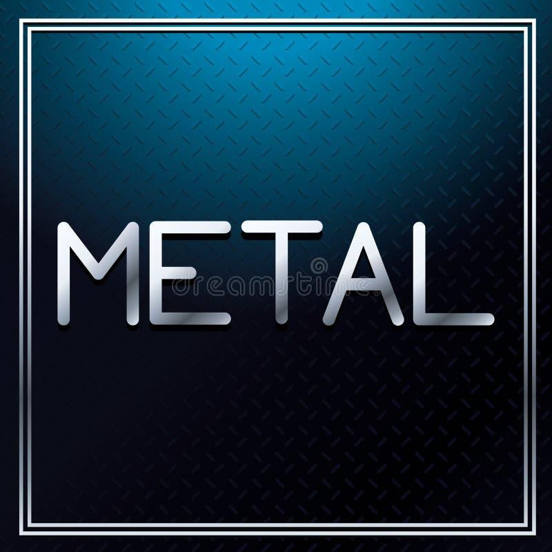 Metallisk stilsort för metall royaltyfri illustrationer