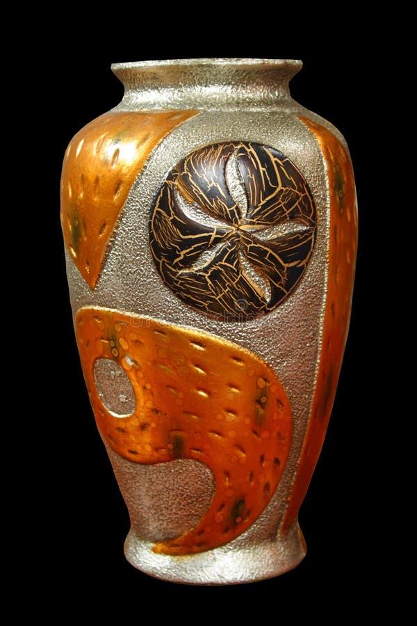 Download Metallisk vase fotografering för bildbyråer. Bild av orientaliskt - 992093