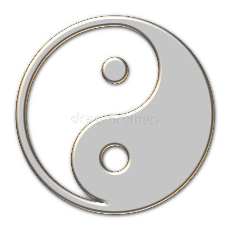 metallisk yang yin royaltyfri illustrationer