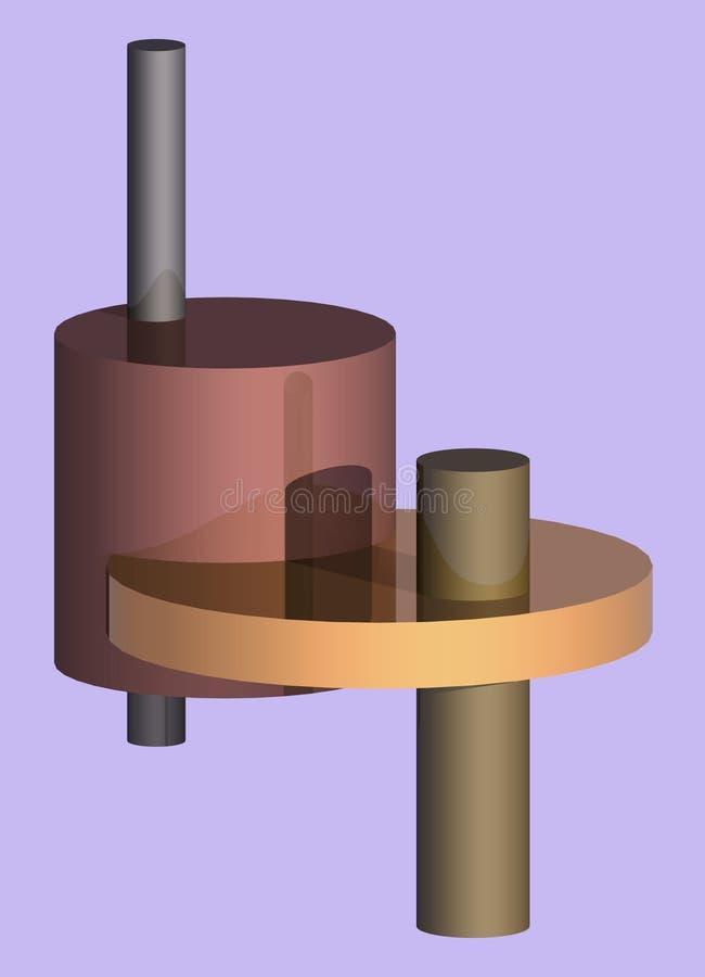metalliska cylindrar 1 fotografering för bildbyråer
