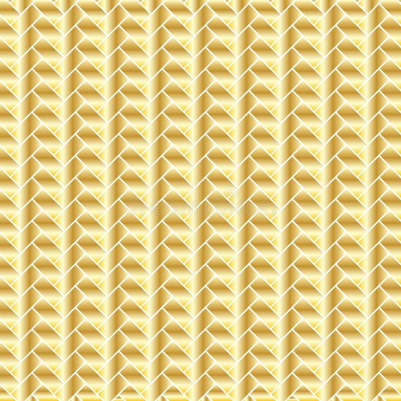 Metalliska guld- tegelstenar stock illustrationer