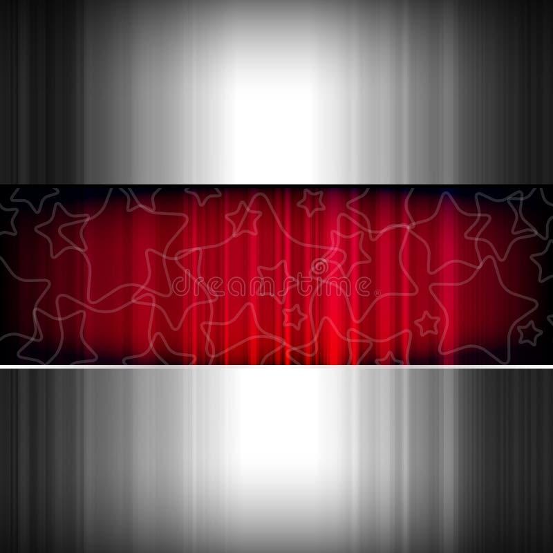 metalliska röda stjärnor för abstrakt bakgrundsmetall vektor illustrationer