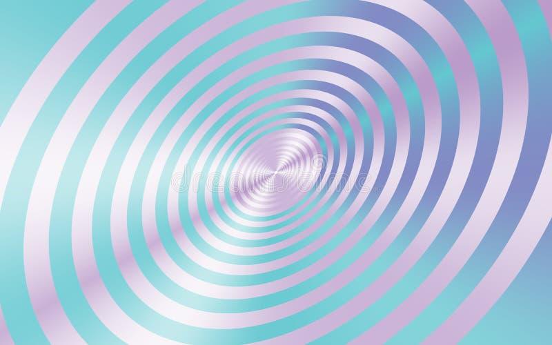 Metalliska rosa cirklar med ljus - blå abstrakt bakgrund för idérika designer vektor illustrationer