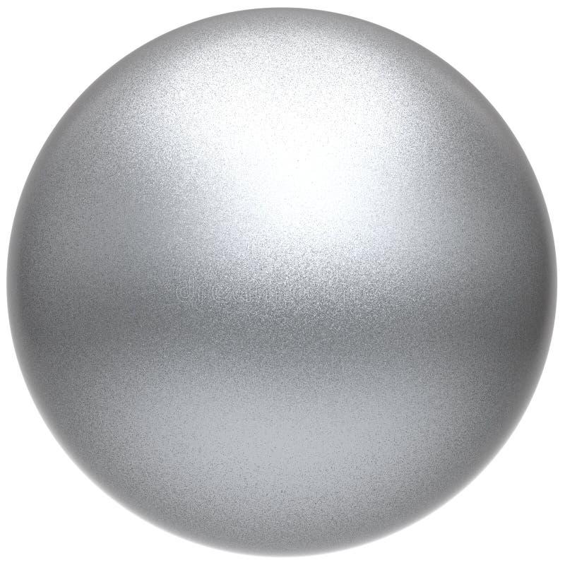 Metalliskt för vit boll för knapp för silversfärrunda grundläggande hopslingrat royaltyfri illustrationer