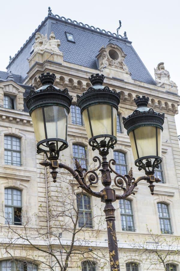 metalliskt retro för lamppost royaltyfri foto