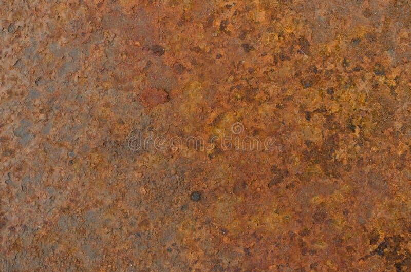metalliskt rostigt tr? f?r bakgrundsgrunge royaltyfri bild