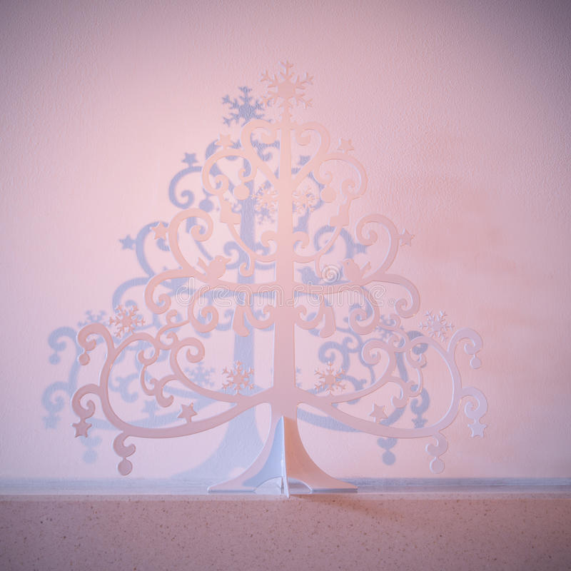 Metalljulträd arkivbilder