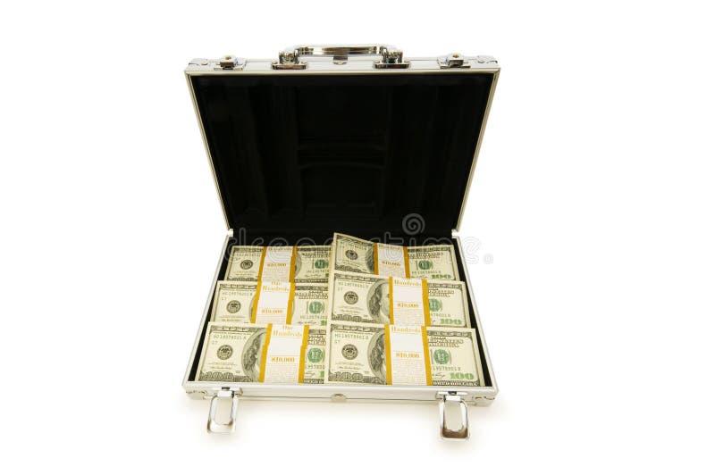 Metallkasten und Lots Dollar lizenzfreie stockfotografie