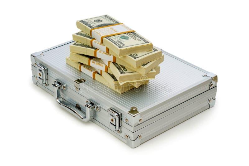 Metallkasten und Lots Dollar stockbild
