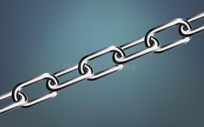 Metallkettennahaufnahmegesamter bildschirm Führung im Geschäftskonzept lizenzfreie abbildung