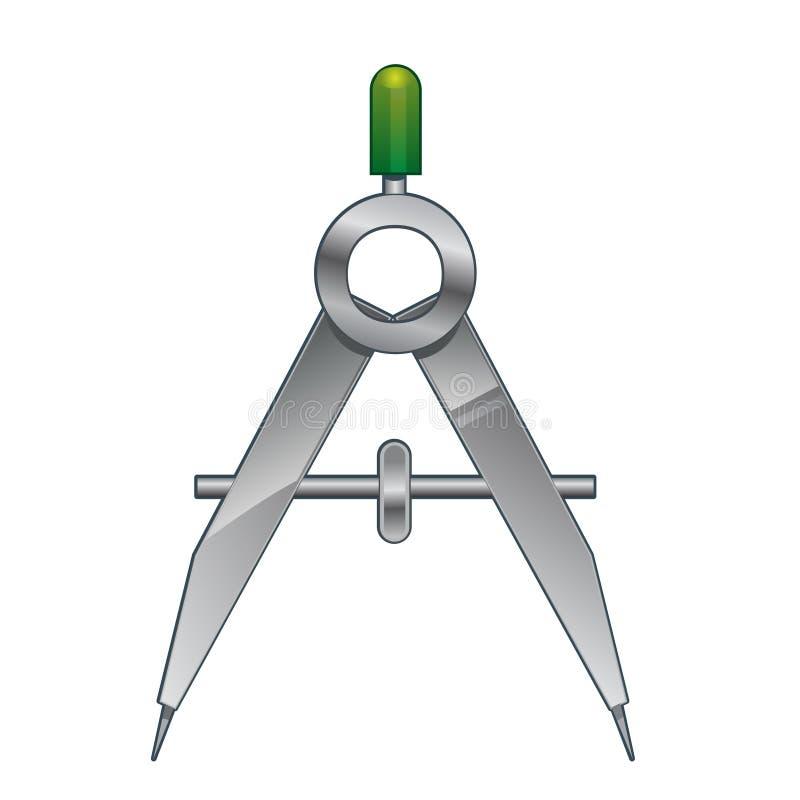 Metallkompass stock illustrationer