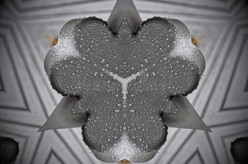 Metallkondensations-Mandalamuster stock abbildung