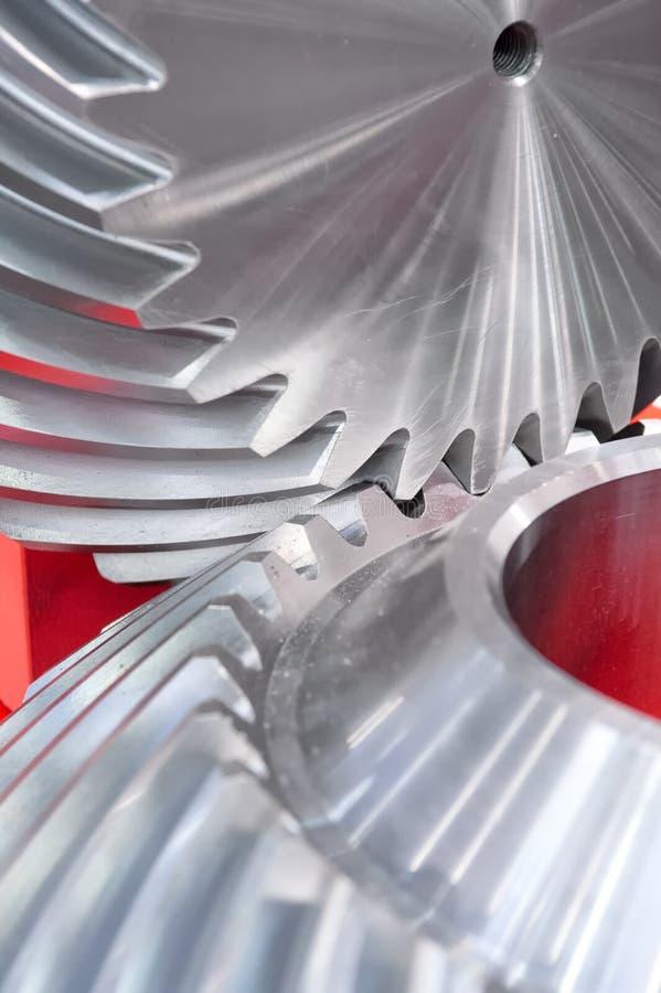 Metallkugghjul arkivfoto