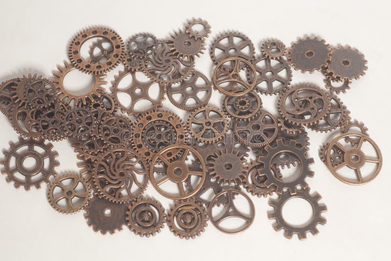 Metallkugghjulhjul arkivbild