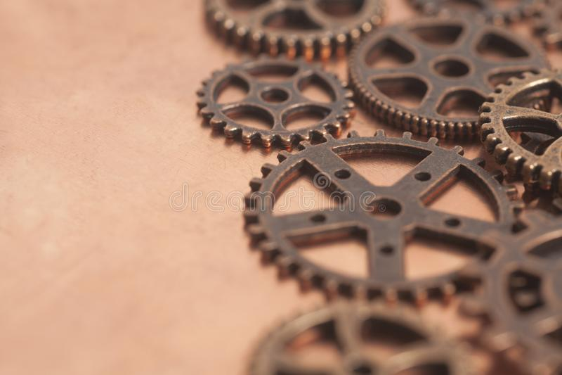 Metallkugghjulhjul arkivfoto