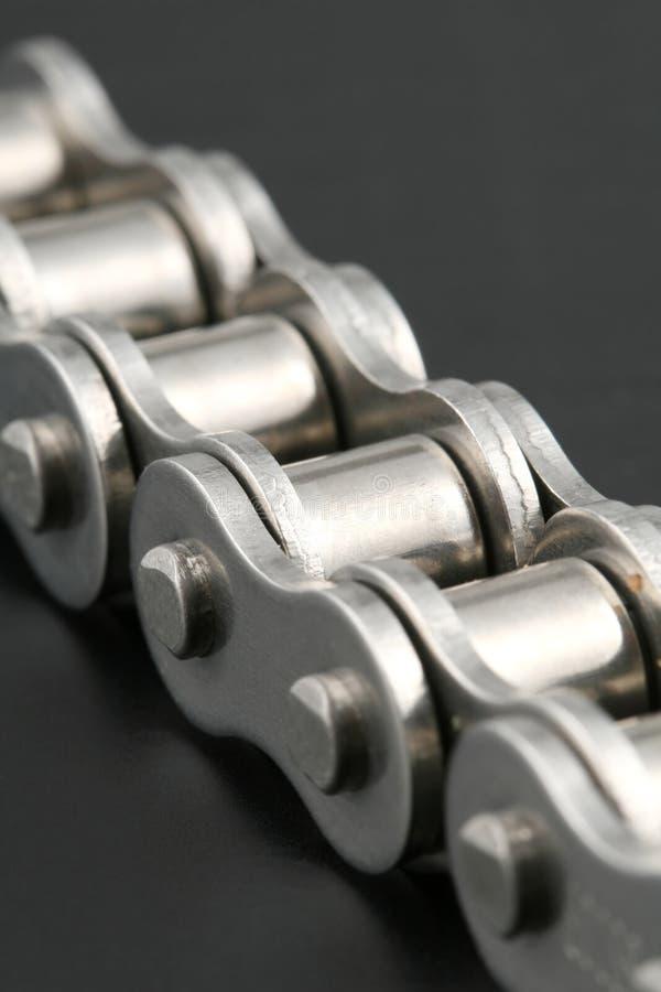Metalllinkkette lizenzfreie stockbilder