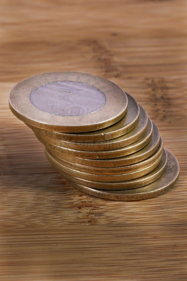 Metallmünzen stockfotografie