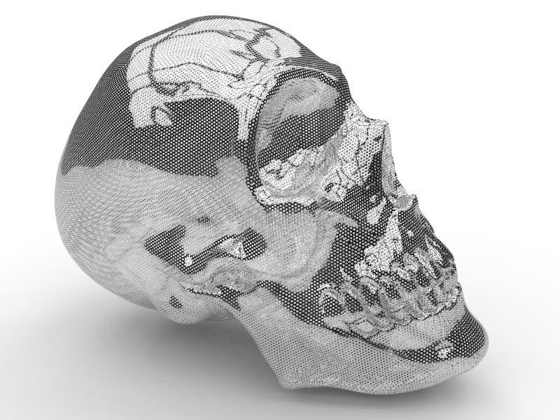 Metallmaschen-Menschenschädel vektor abbildung