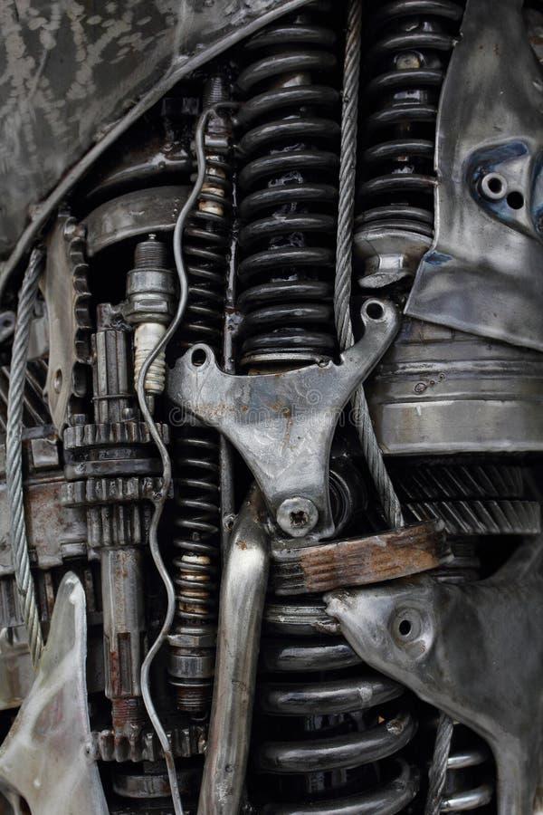 Metallmotorn utrustar bakgrund arkivbilder