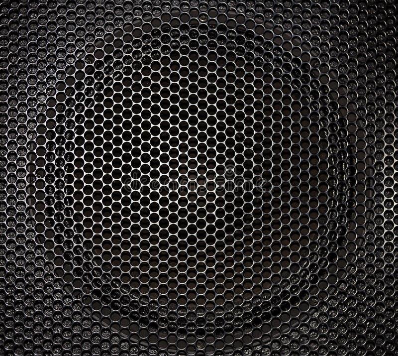 Metallmuster auf schwarzem Hintergrund stockbild