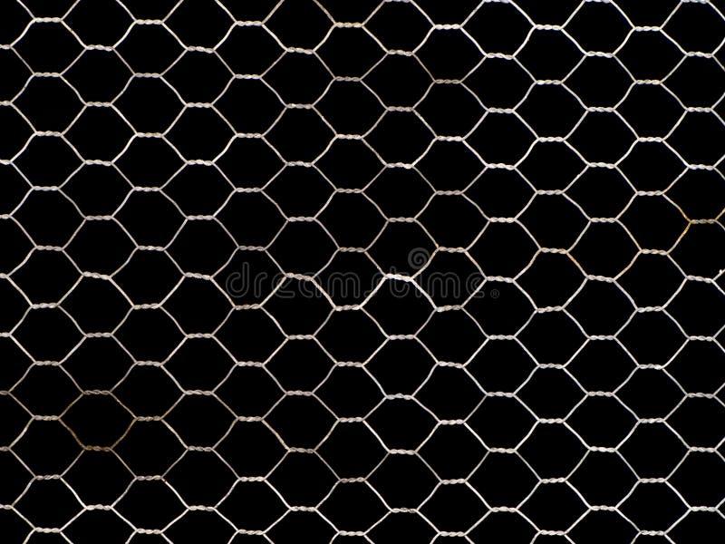 Metallnetz getrennt auf Schwarzem stockbild