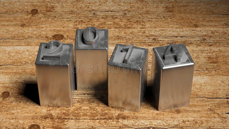 Metallo 2014 illustrazione di stock
