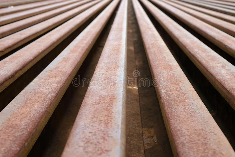 Metallo arrugginito della ferrovia fotografia stock libera da diritti