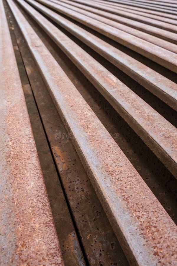 Metallo arrugginito della ferrovia fotografia stock