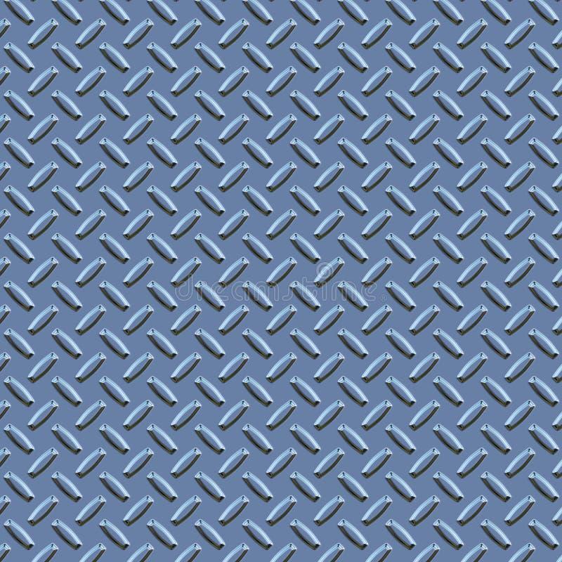 Metallo blu della zolla del diamante royalty illustrazione gratis