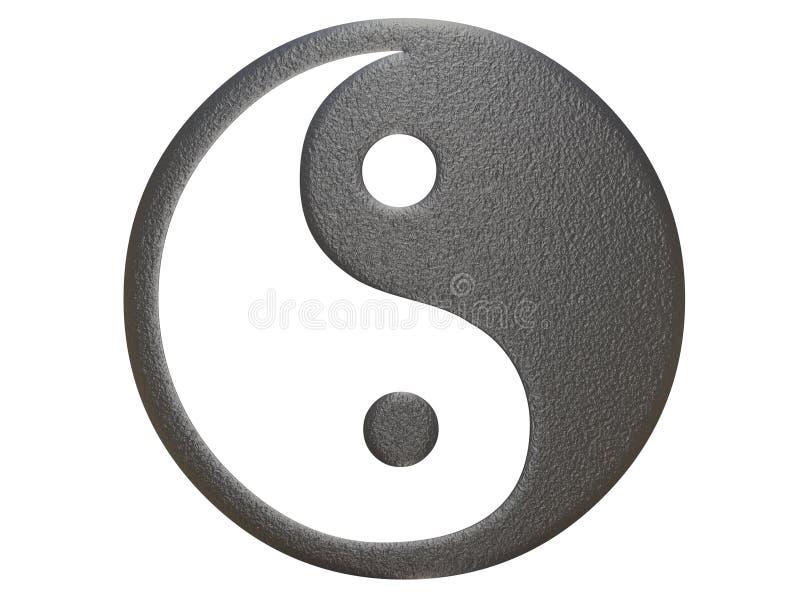 Metallo che ying il segno del yang royalty illustrazione gratis