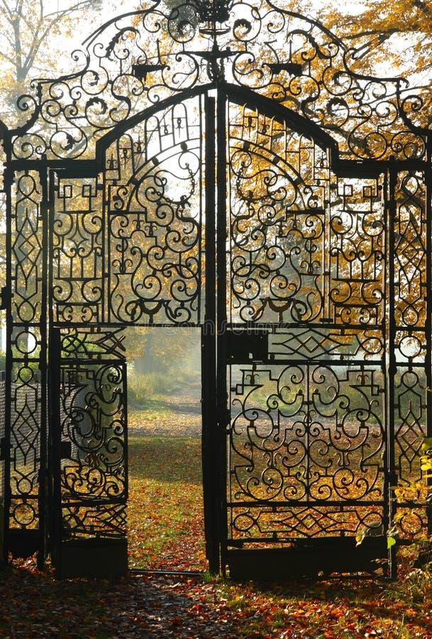 metallo del cancello immagine stock libera da diritti