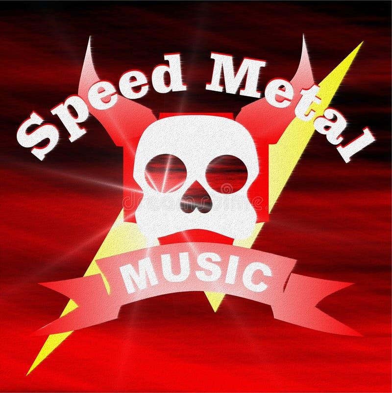 Metallo di velocità di musica fotografia stock libera da diritti