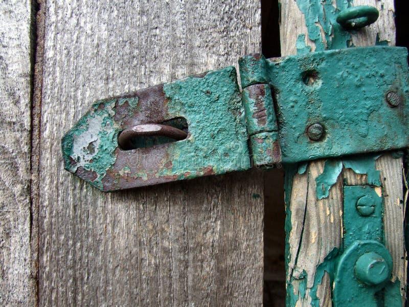 Metallo e legno fotografia stock