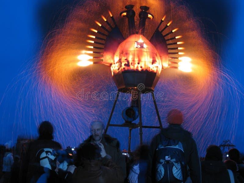 Metallo Firebird al festival Archstoyanie 2008 La Russia fotografie stock