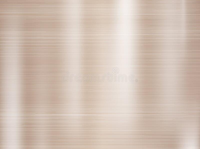 Metallo, fondo di struttura dell'acciaio inossidabile con la riflessione illustrazione di stock