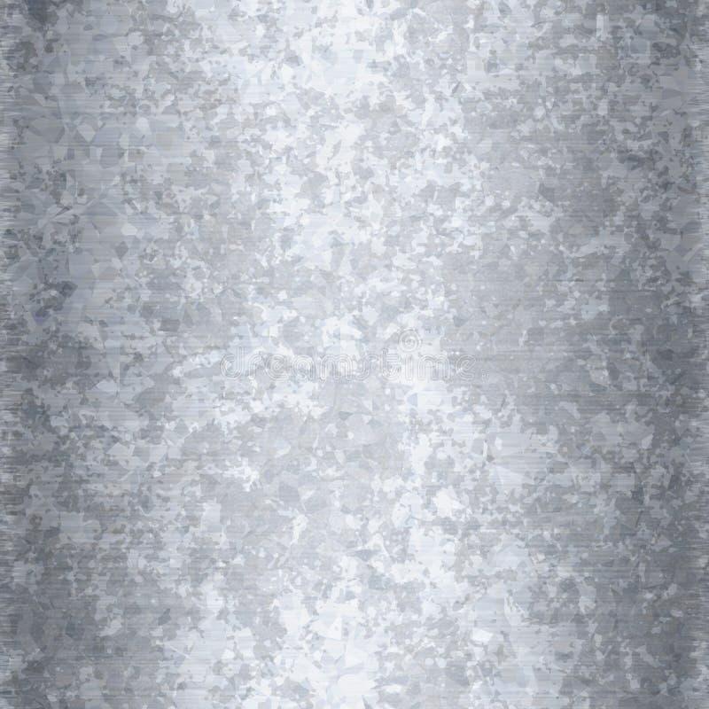 Metallo galvanizzato senza cuciture fotografia stock