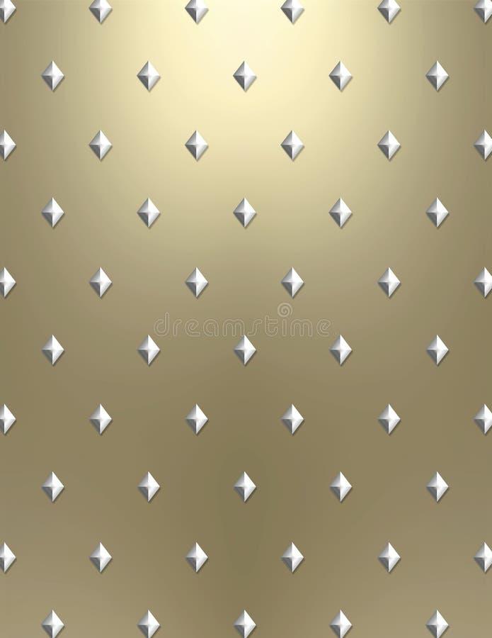Metallo modellato diamante illustrazione vettoriale