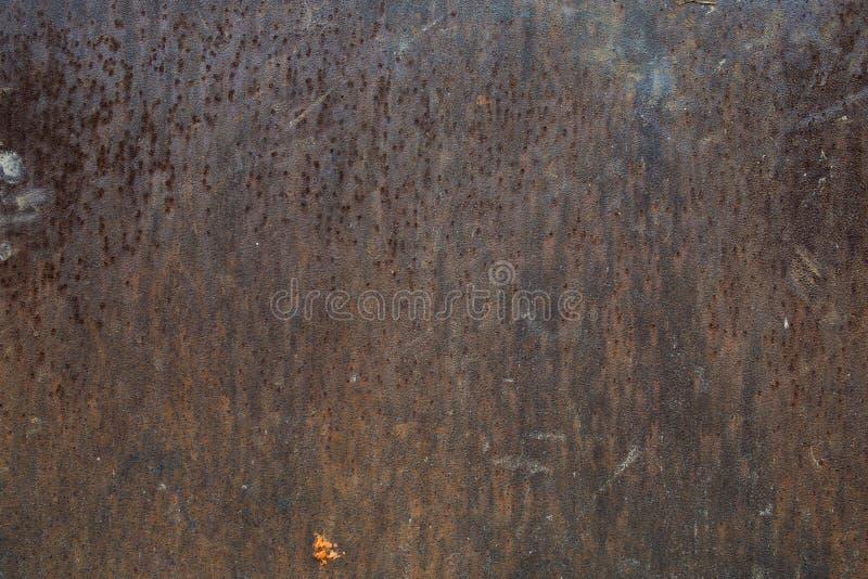 Metallo oxidazed ruvido della superficie del ferro di vecchio lerciume immagini stock libere da diritti