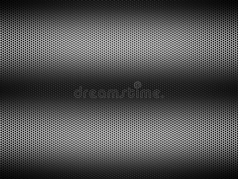 Metallo perforato illustrazione vettoriale