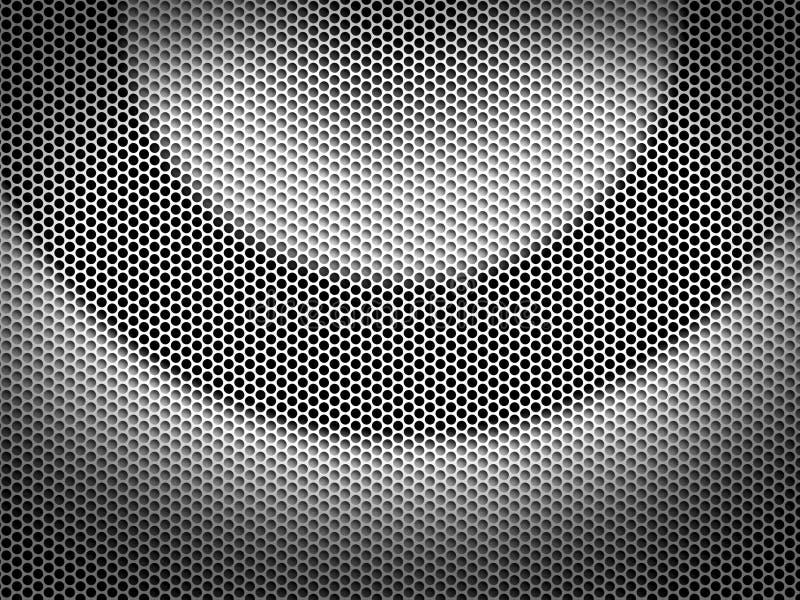 Metallo perforato illustrazione di stock