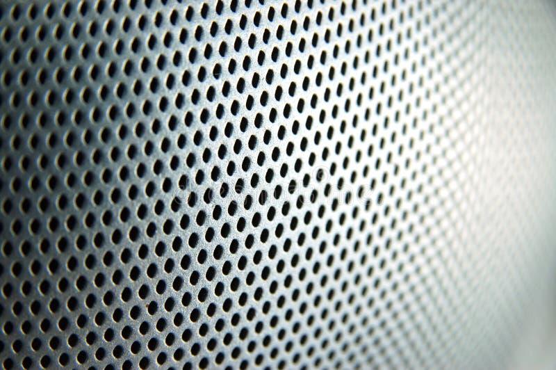 Metallo perforato immagine stock libera da diritti
